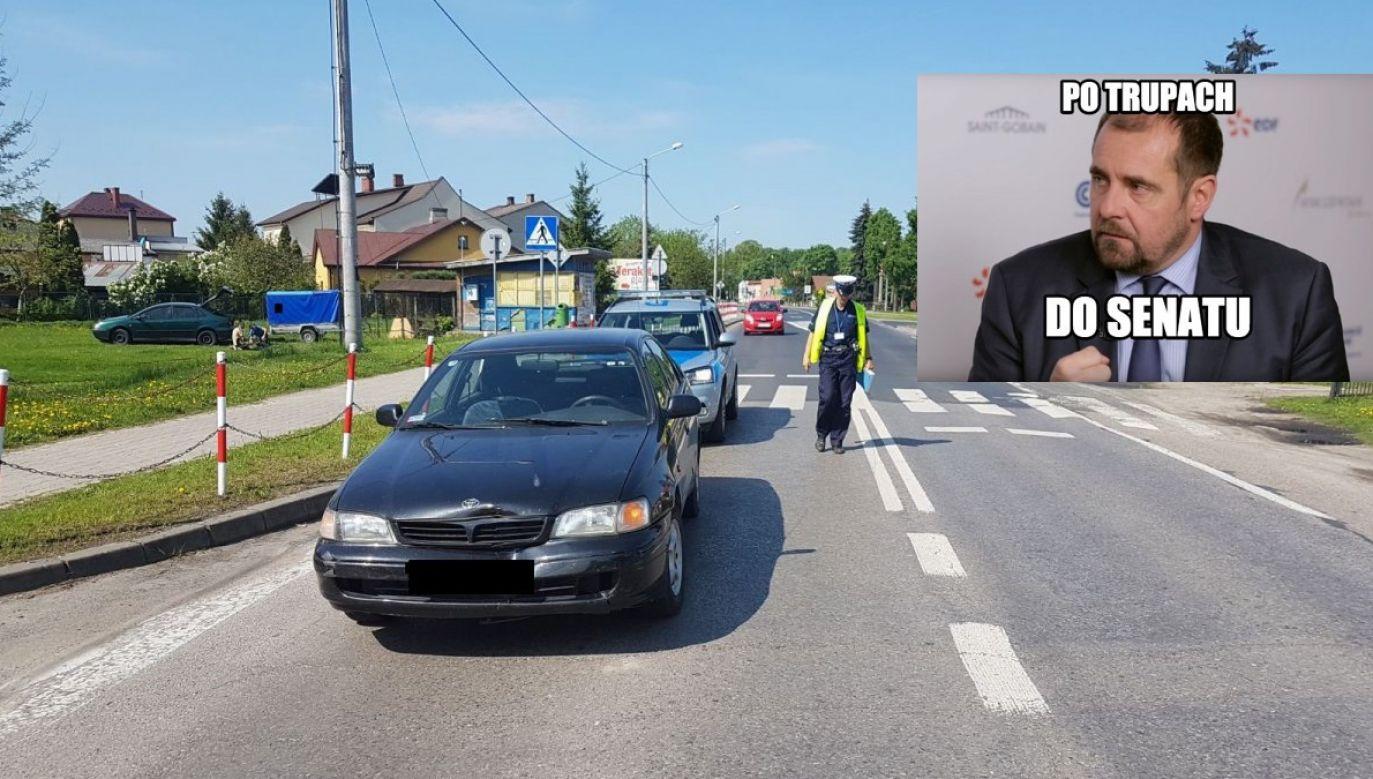 """Pociej to idealny kandydat dla tych, którzy """"uważają, że jeszcze za mało osób ginie na przejściach"""" – pisze MJN. (fot. parczew.lubelska.policja.gov.pl/FB.miastojestnasze)"""