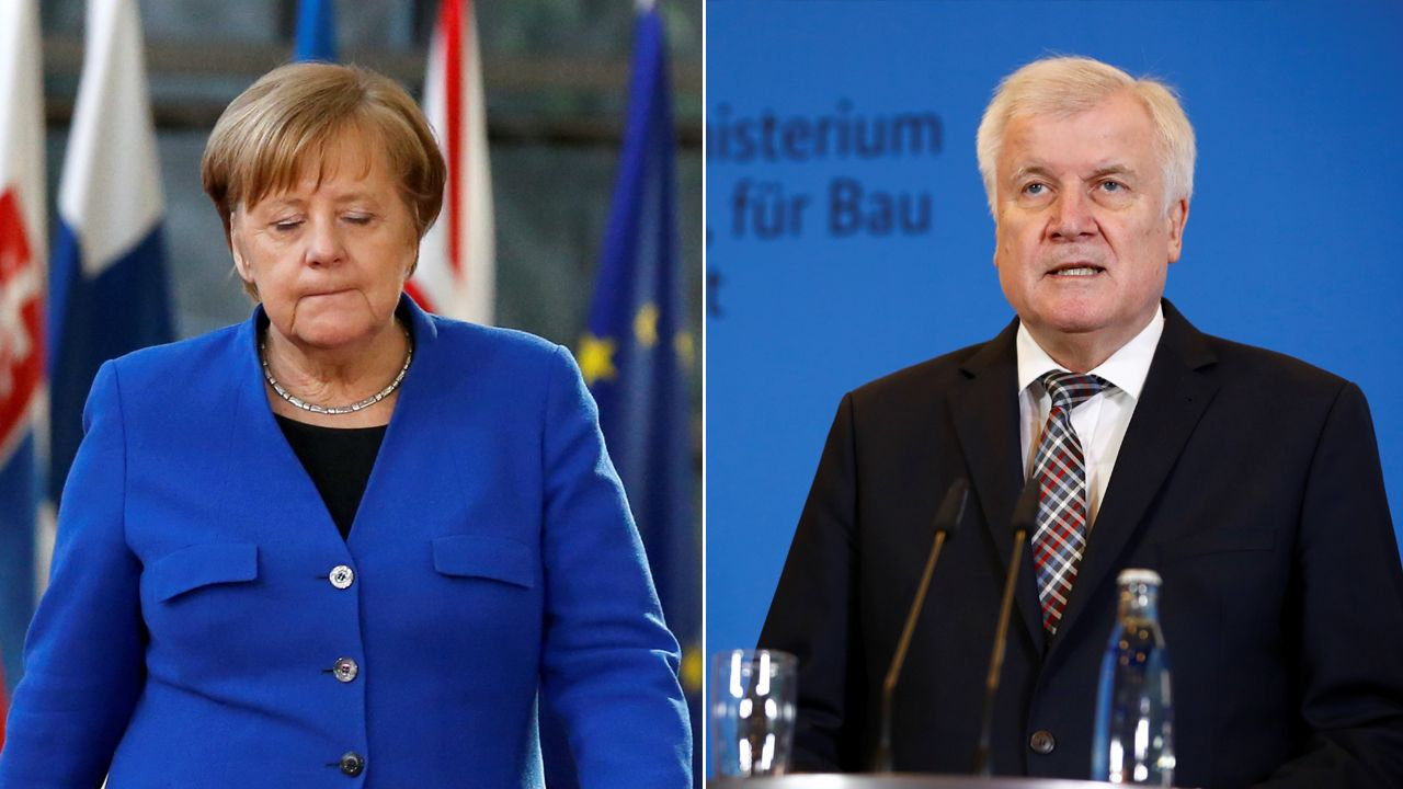 Kanclerz Niemiec Angela Merkel, były dyrektor BfV Hans-Georg Maassen (fot. REUTERS/Eva Plevier/Fabrizio Bensch)