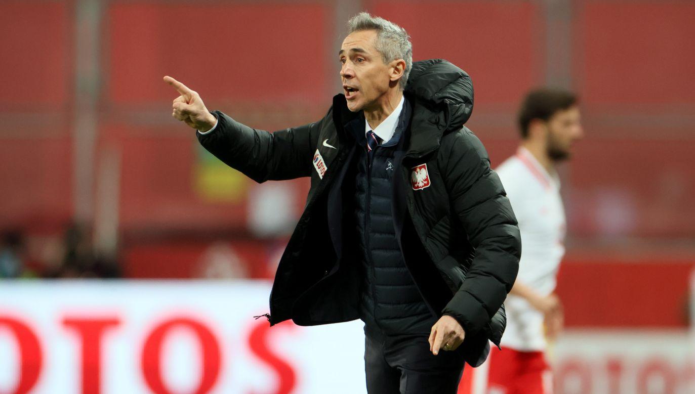 Mecz z Angliąto najtrudniejsze z dotychczasowych wyzwań Paulo Sousy w roli selekcjonera (fot. PAP/Leszek Szymański)