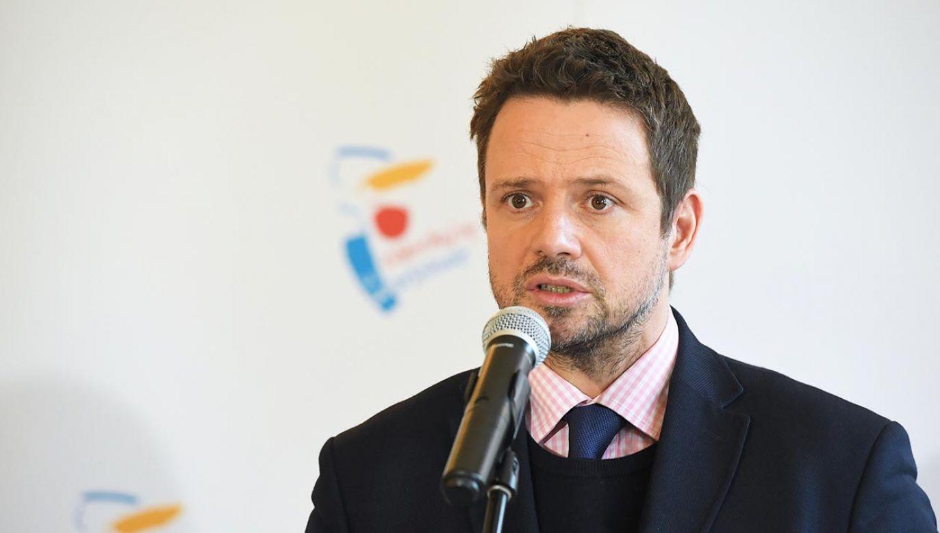 Prezydent Warszawy Rafał Trzaskowski (fot. PAP/Radek Pietruszka)