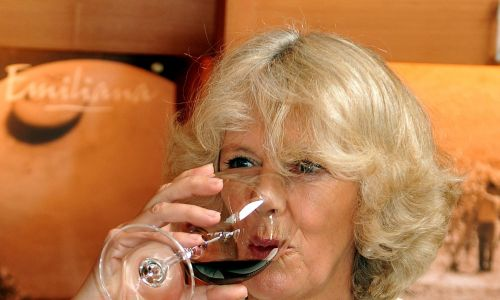 Po tym, jak Hiszpanie zakazali importu wina z amerykańskich kolonii, a Chile to zignorowało, znany wówczas korsarz na żołdzie londyńskiej królowej Elżbiety I Francis Drake porwał statki z chilijskim winem. Na zdjęciu Kamila, księżna Kornwalii i druga żona Karola, syna Królowej Elżbiety II następcy brytyjskiego tronu, pije czerwone chilijskie wino podczas wizyty w winnicy w tym południowoamerykańskim kraju. Fot. John Stillwell - PA Images / PA Images via Getty Images