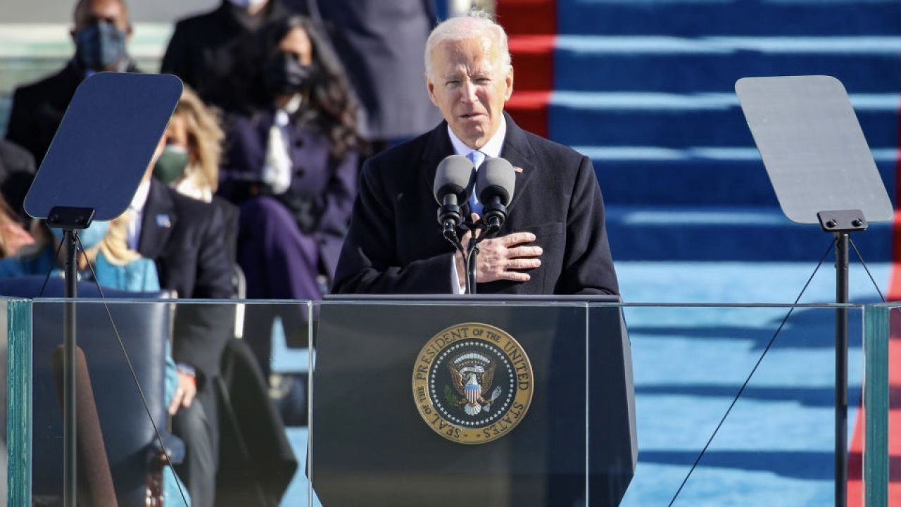 Joe Biden (fot. Rob Carr/Getty Images)