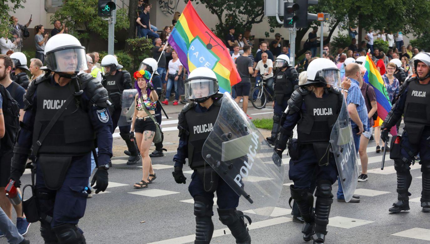 Marsz Równości w Białymstoku nie obył się bez zamieszek (fot. PAP/Artur Reszko)