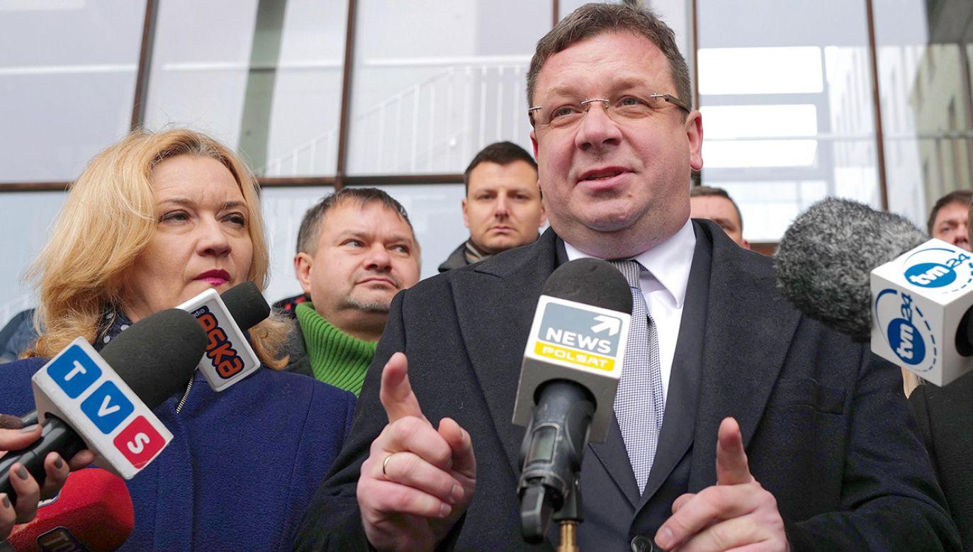 Zdaniem wiceministra Michała Wójcika pierwszy raz od 30 lat udaje się gruntownie zreformować sądownictwo (fot. PAP/Andrzej Grygiel)