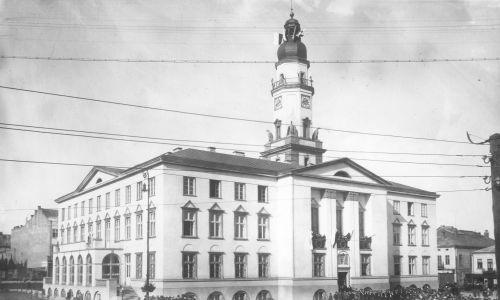 Rok 1929. Uroczystość poświęcenia nowego ratusza. Fot. NAC/IKC