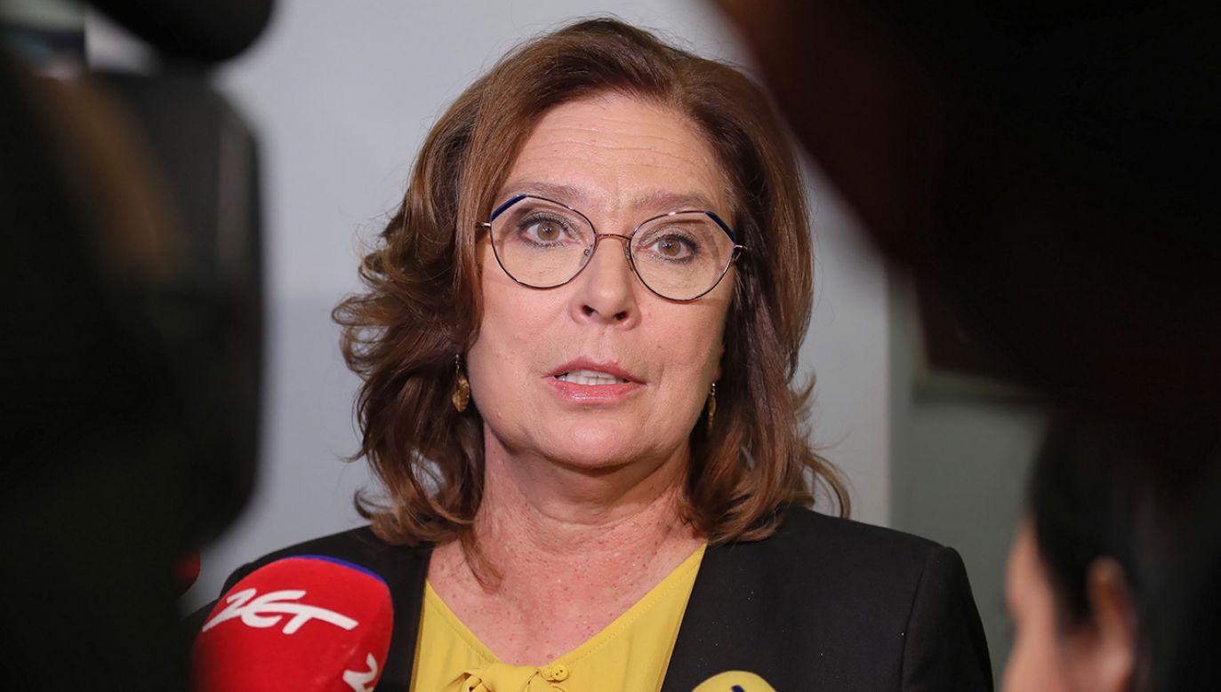Politycy PO bronią swojej kandydatki na prezydenta Małgorzaty Kidawy-Błońskiej po jej kolejnych wypowiedziach ocenianych w sieci jako wpadki (fot. arch. PAP/Paweł Supernak)