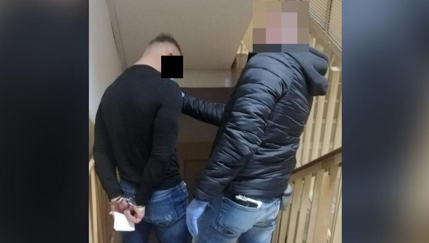 Po zatrzymaniu podejrzany został osadzony w policyjnej celi (fot. Policja)