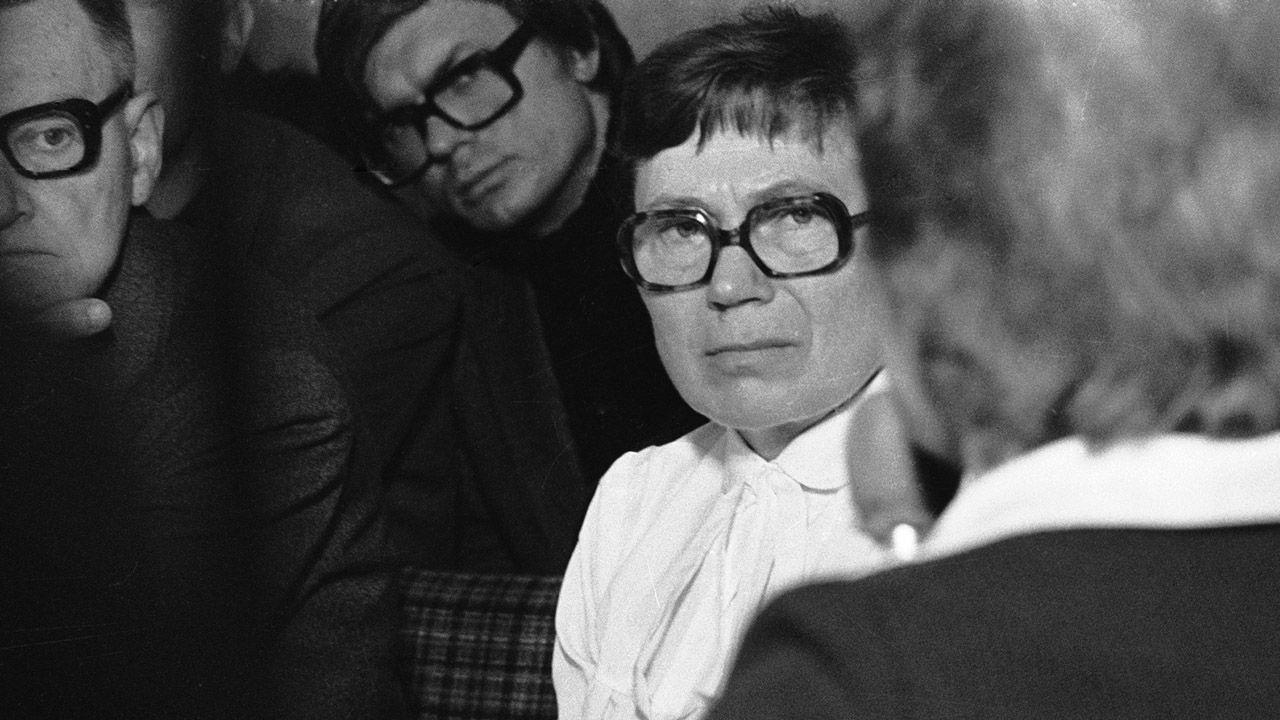 """Anna Walentynowicz zapisała się w historii jako ikona """"Solidarności"""" (fot. arch.PAP/Stefan Kraszewski)"""