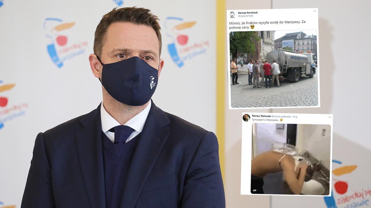 Rafał Trzaskowski, prezydent Warszawy (fot. PAP/Paweł Supernak; Twitter)