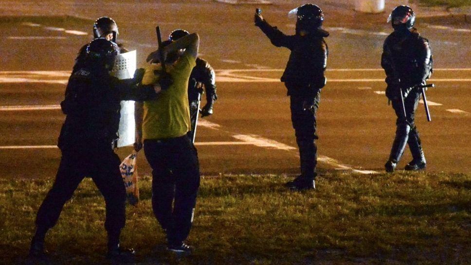 Do ataku doszło w Grodnie (fot. PAP/EPA/YAUHEN YERCHAK, zdjęcie ilustracyjne)