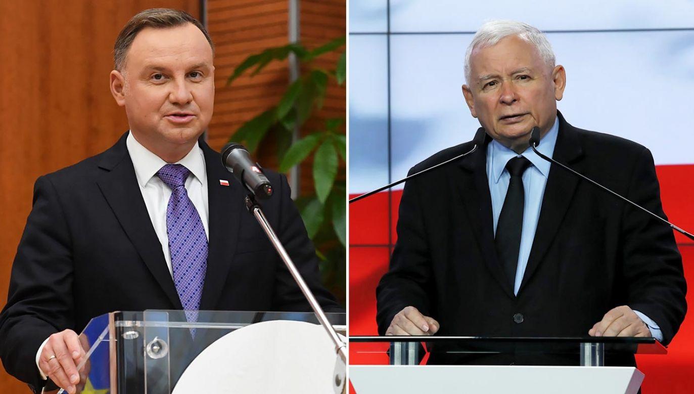 Prezydent Andrzej Duda popiera pomysł wejścia do rządu Jarosława Kaczyńskiego (fot. PAP/Piotr Nowak, Tomasz Gzell)