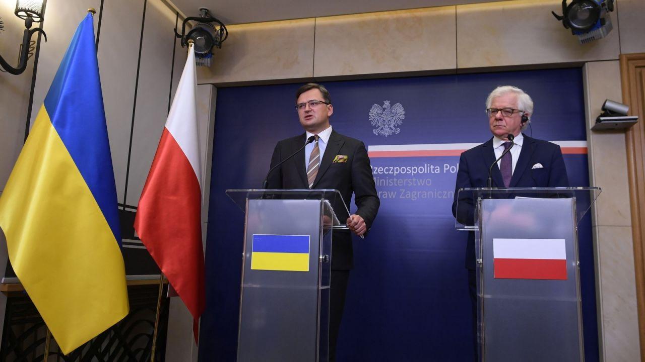 Jacek Czaputowicz spotkał się ze swoimi ukraińskim odpowiednikiem Dmytro Kułebą (fot. PAP/Marcin Obara)