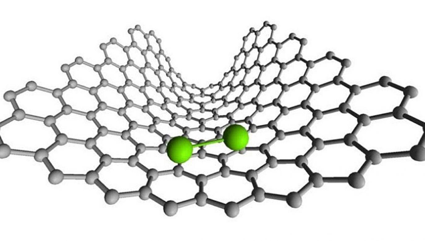 Eksperyment przeprowadzono w węglowej nanorurce (graf. University of Nottingham)