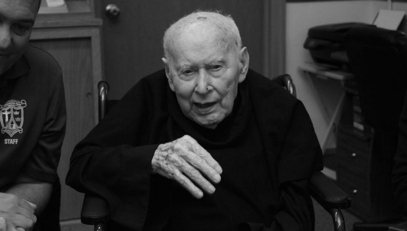 O. Królikowski był najstarszym bratem konwentualnym na świecie (fot. Twitter/MrPParente)