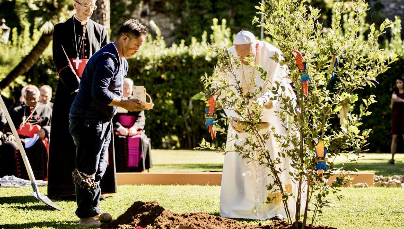 Papież Franciszek zaprasza do uczestnictwa w Tygodniu Laudato si' (fot. Giulio Origlia/Getty Images)