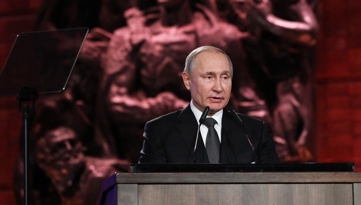 Prezydent Rosji Władimir Putin (fot. PAP/EPA/ABIR SULTAN / POOL)