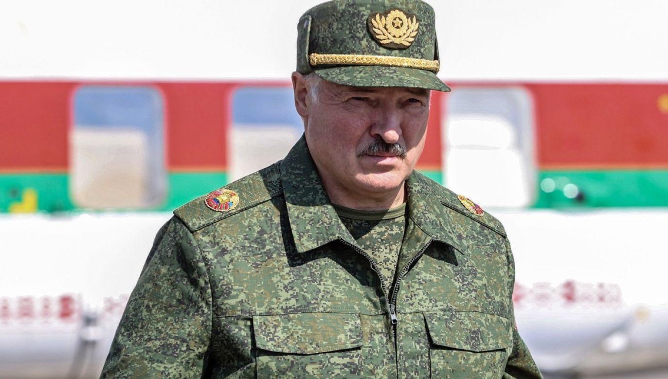 Białoruski prezydent chce również zamknięcia granicy z Litwą (fot. PAP/EPA/ANDREI STASEVICH/BELTA/POOL)