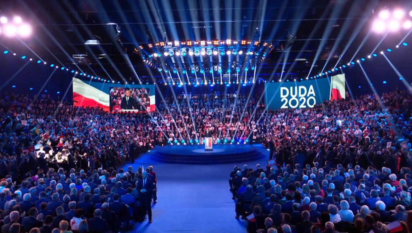 W spocie wyborczym pojawiają się fragmenty sobotniej konwencji wyborczej Andrzeja Dudy (fot. Facebook/Andrzej Duda)