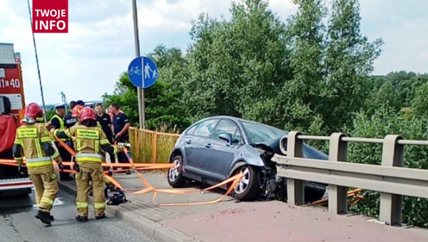 Do zdarzenia doszło po godzinie  14.15 w Michalu w powiecie świeckim (fot.Twoje Info)
