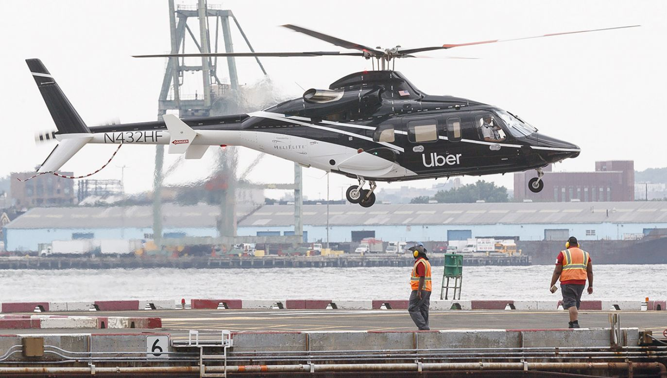 Uber poszerza działalność o helikoptery (fot. PAP/EPA/JUSTIN LANE)