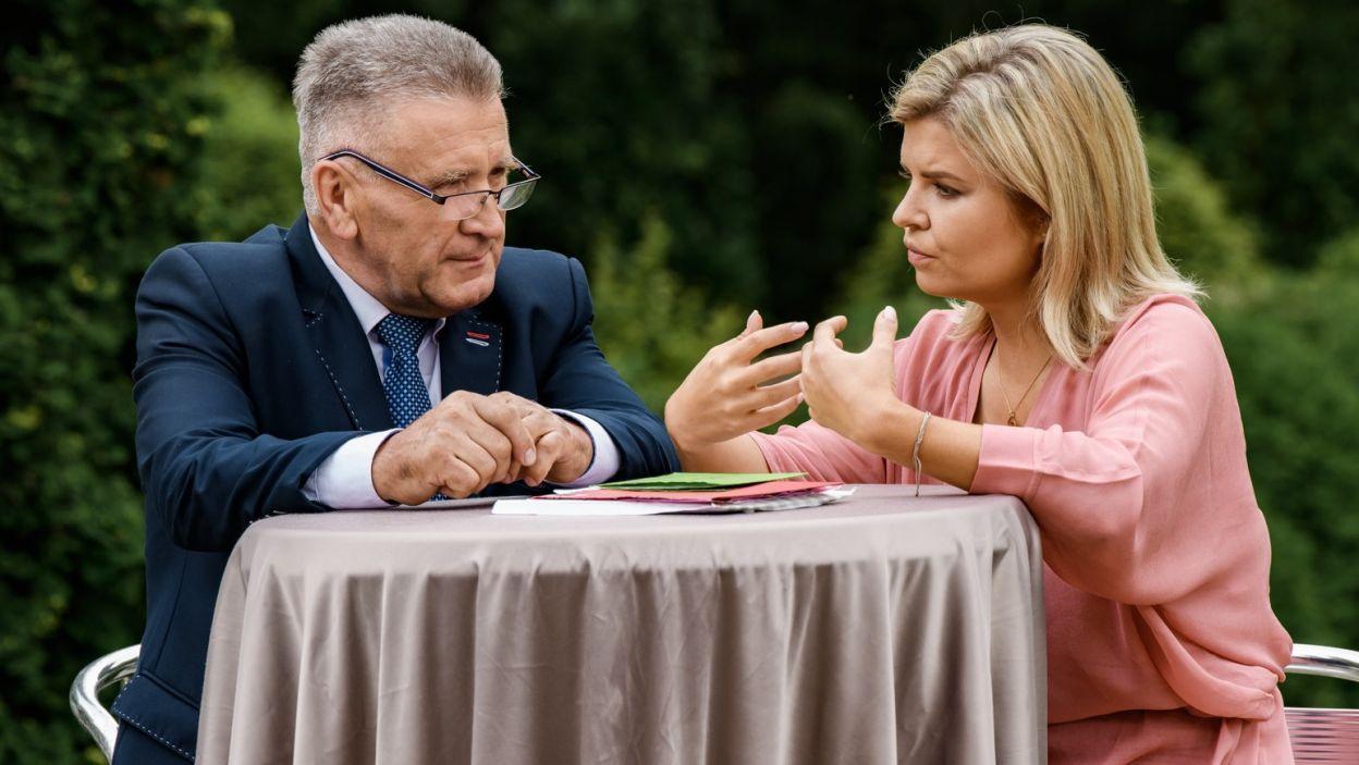 Rolnik docenił ten miły gest, bo jak przyznał w rozmowie z Martą, rodzina się go wyrzekła... (fot. TVP)