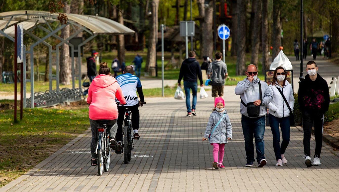 Nowe obostrzenia – zmiany od 26 kwietnia. Konferencja ministra zdrowia (fot. Forum/Michal Kosc)