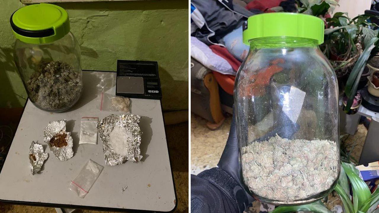 21-latek miał przy sobie narkotyki (fot. Policja)