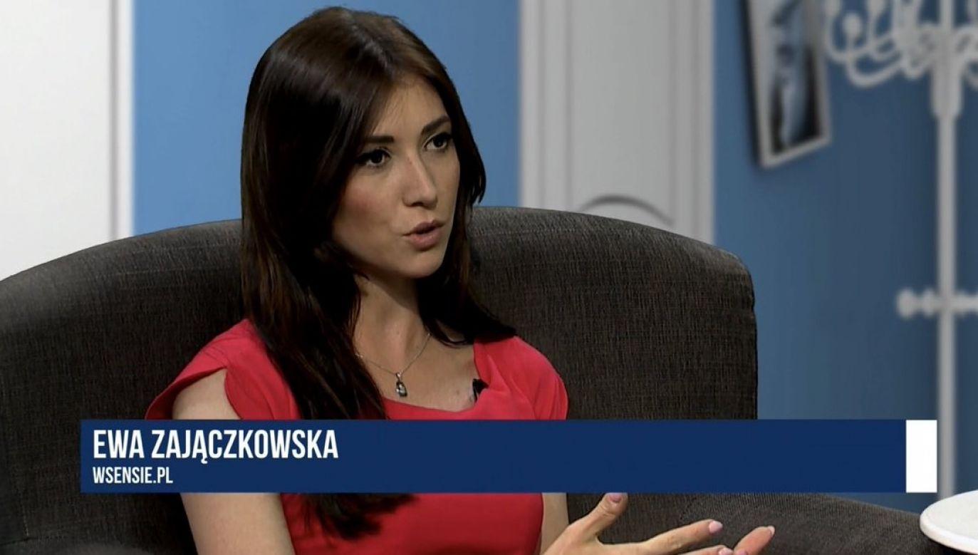 Zajączkowska-Hernik dziennikarzom Telewizji Polskiej za wzór stawia niemiecką ZDF (fot. screen wsensie.pl)