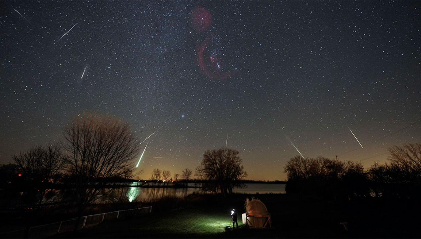Leonidy to najszybszy znany rój meteorów – prędkość meteoroidów w ziemskiej atmosferze dochodzi do 72 km/s (fot. NASA)