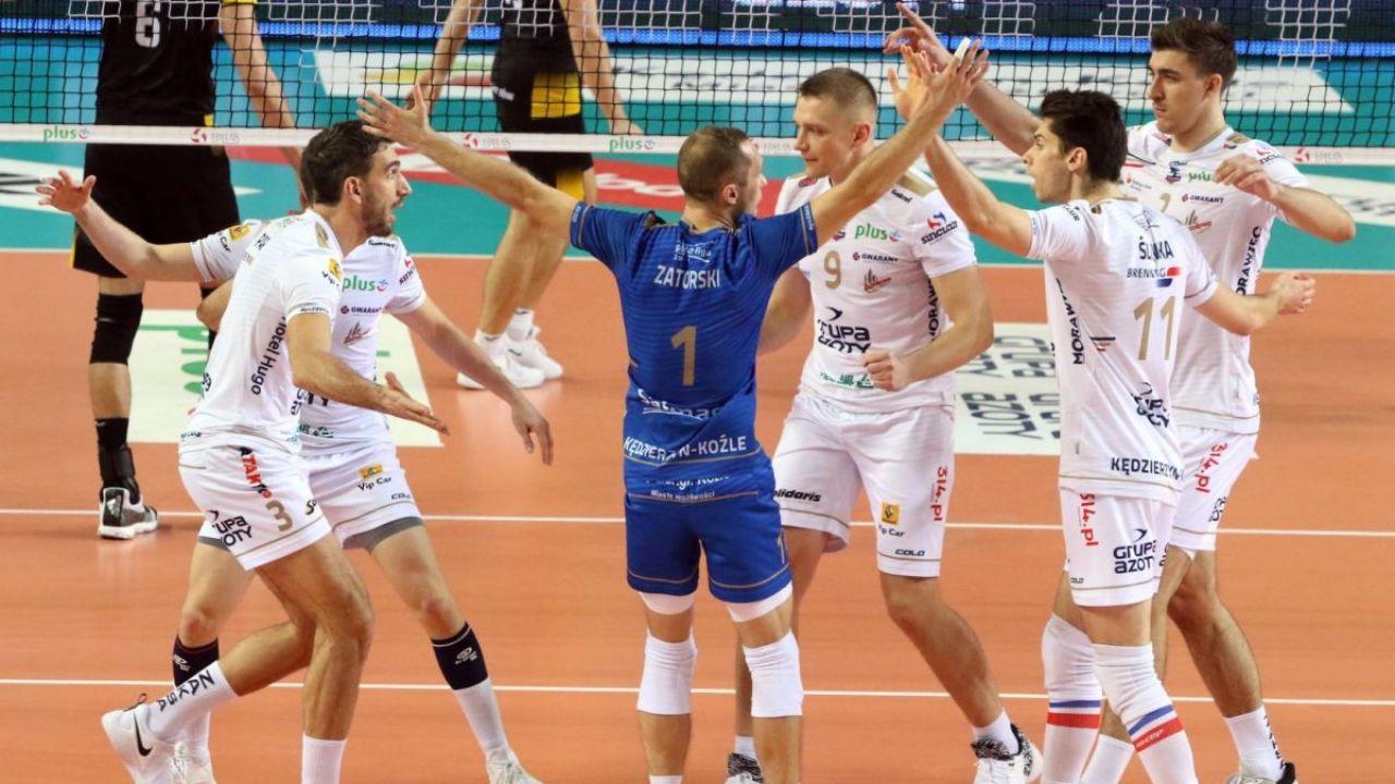 Liga Mistrzów. ZAKSA Kędzierzyn-Koźle - Cucine Lube Civitanova 0:3. Złoty set dla ZAKSY (sport.tvp.pl)