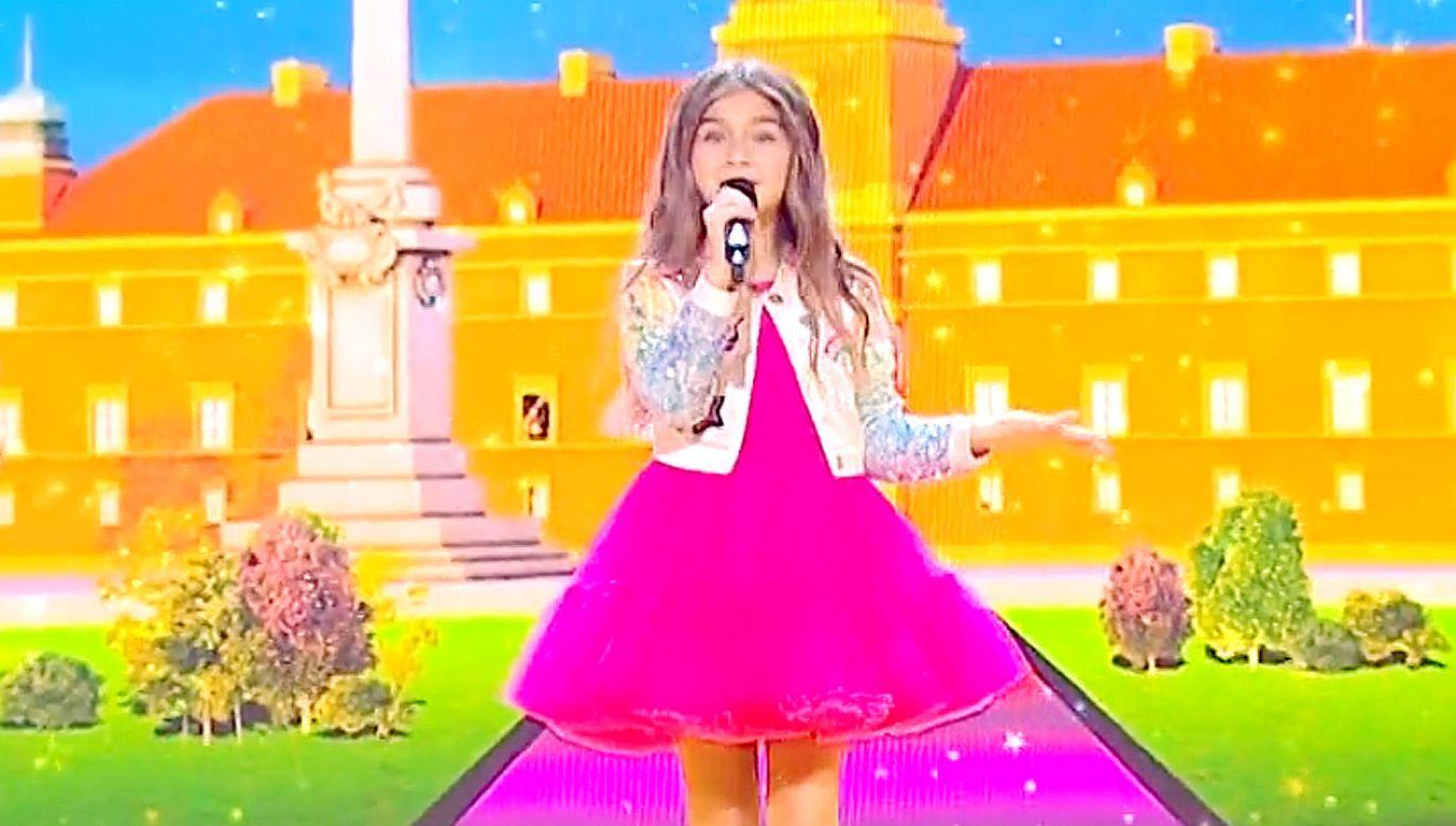 """Valentina z piosenką """"J'imagine"""" zdobyła łącznie 200 punktów od jury i widzów (fot.TVP)"""