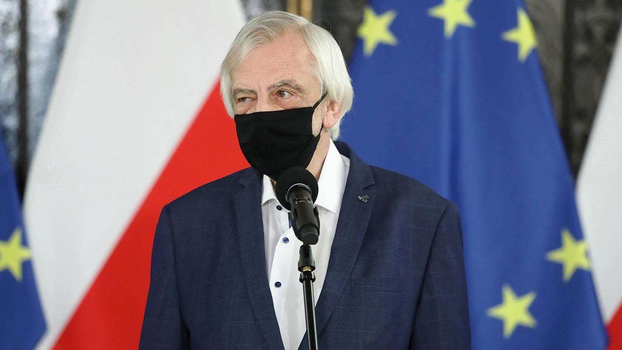 Szef klubu PiS Ryszard Terlecki (fot. PAP/Tomasz Gzell)