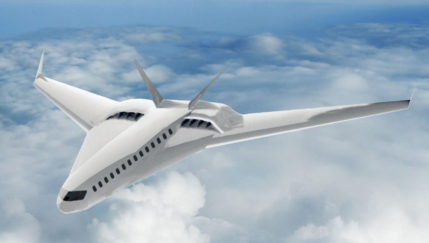 Tak może wyglądać pasażerski odrzutowiec przyszłości (graf. University of Illinois at Urbana-Champaign Department of Aerospace Engineering)