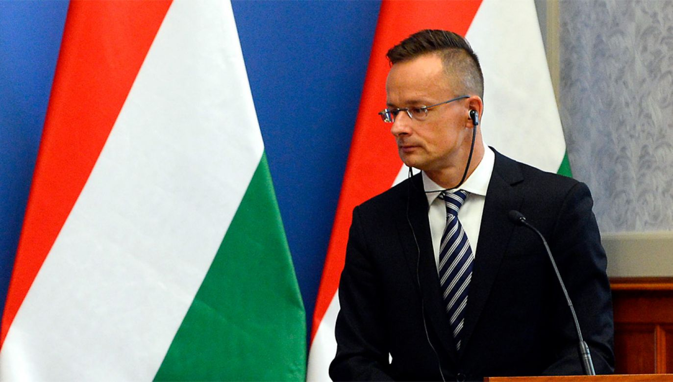 Szef MSZ Węgier Peter Szijjarto odwiedził przedstawicieli mniejszości węgierskiej na Zakarpaciu (fot. PAP/EPA/Lajos Soos)