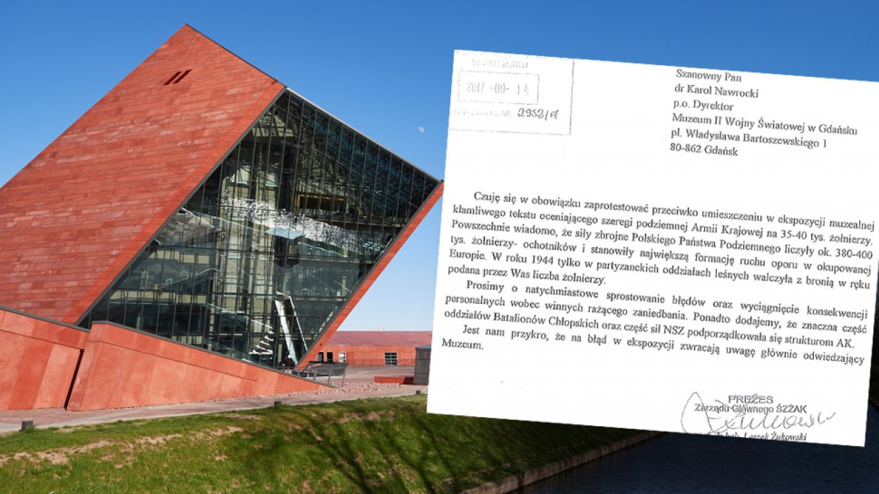 Prezes Światowego Związku Żołnierzy AK wystosował list do władz muzeum (fot. arch.PAP/Adam Warżawa)