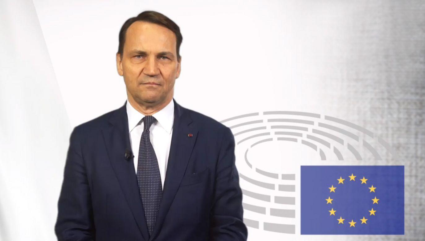 Będę popierał tego, kto zostanie kandydatem Platformy – zapowiedział Radosław Sikorski (fot. Facebook/Radosław Sikorski)