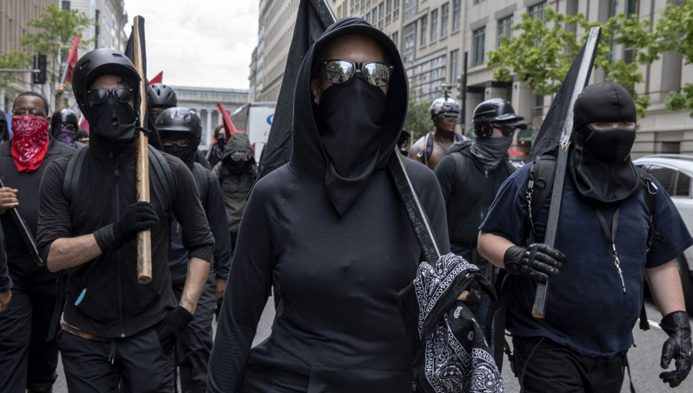 Antifa na ulicach Waszyngtonu (fot. Evelyn Hockstein/For The Washington Post via Getty Images)