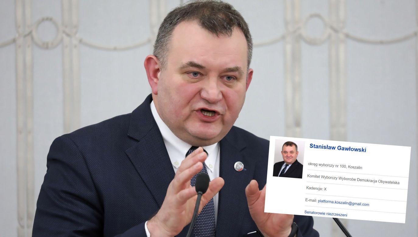 """""""Wszystko jasne – niezrzeszony, ale jednak Platforma"""" (fot. PAP/Tomasz Gzell)"""