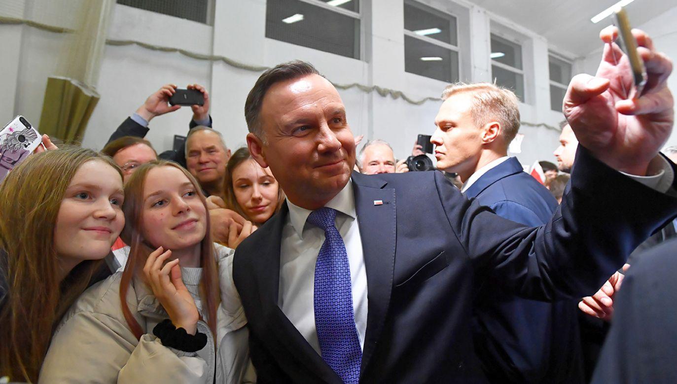 Andrzej Duda na spotkaniu w Brojcach (fot. PAP/Marcin Bielecki)