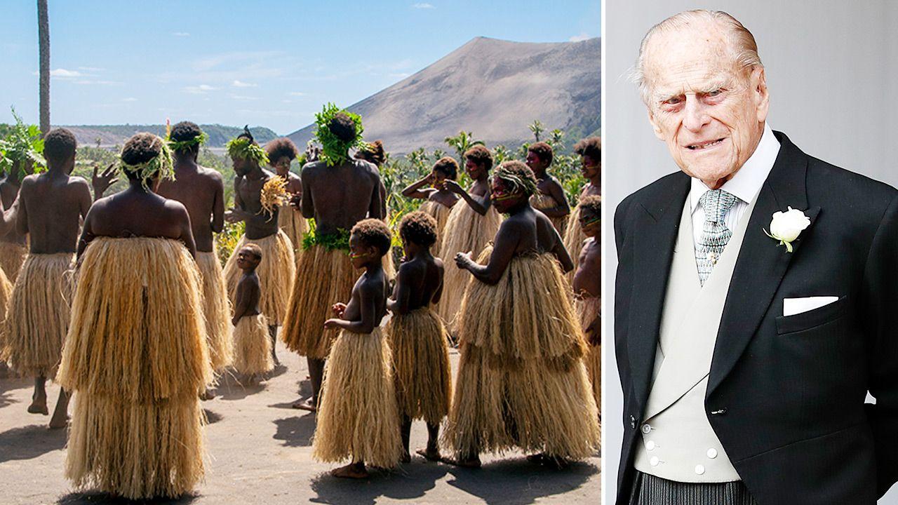 Plemię otaczało księcia Filipa boskim kultem (fot. Shutterstock; Alastair Grant - WPA Pool/Getty Images)