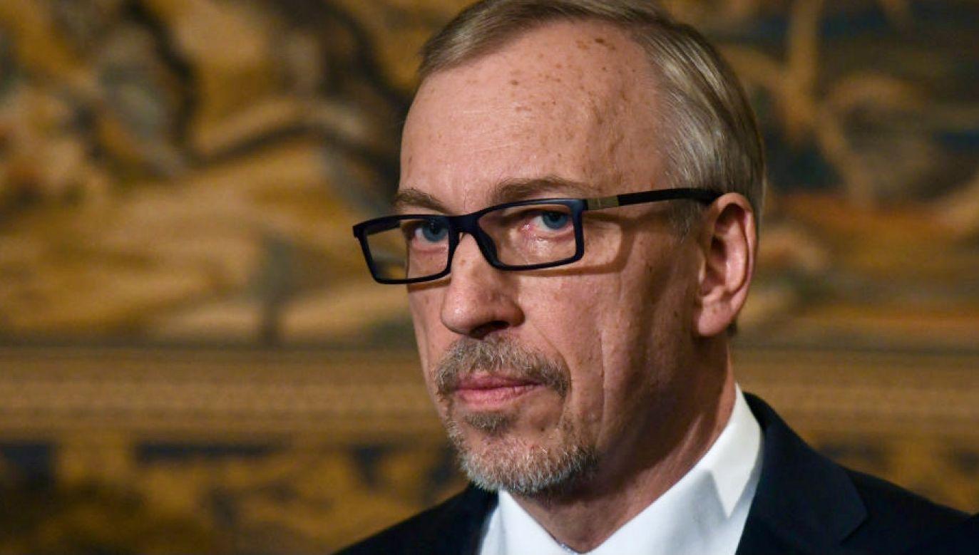 Bogdan Zdrojewski nie popisał siępodczas porannego wywiadu dla RMF FM (fot. A.Widak/NurPhoto/Getty Images)