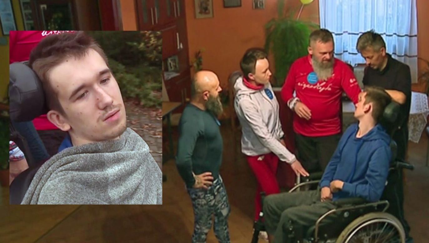 Wypadek przerwał sportową karierę Dawida (fot. TVP)