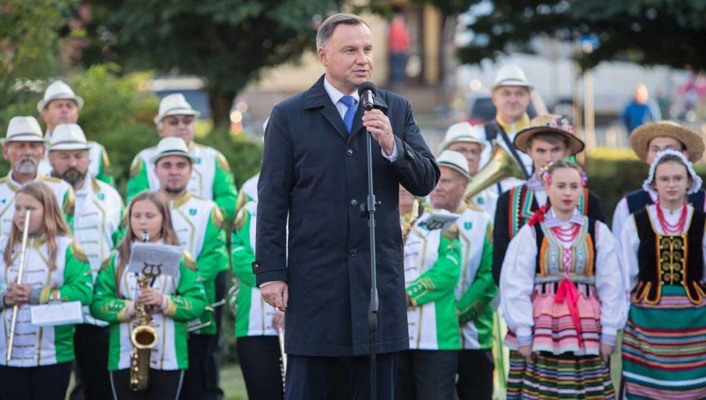 Andrzej Duda spotkał się z mieszkańcami Włodawy (fot. PAP/Wojtek Jargiło)