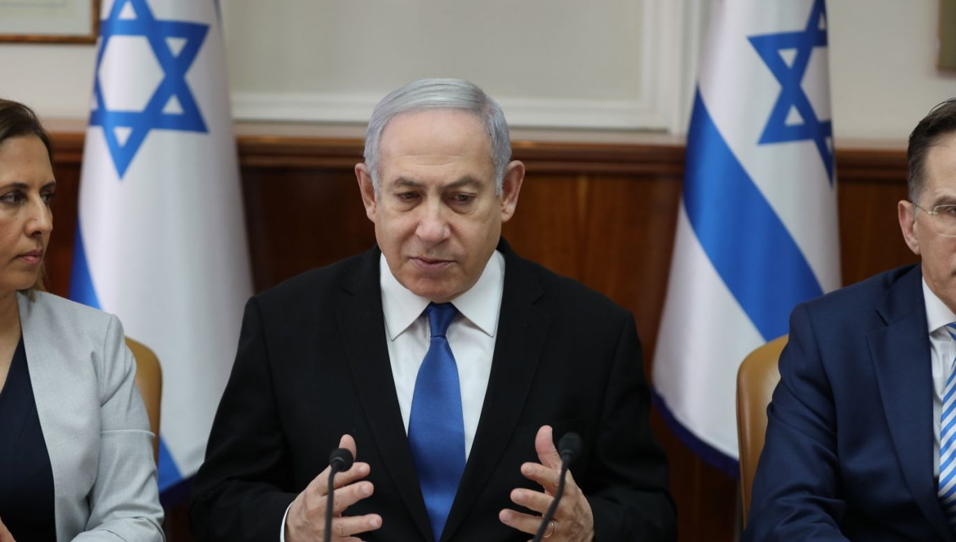 – Nadszedł czas na ustanowienie naszej suwerenności nad Doliną Jordanu i zalegalizowanie wszystkich kolonii w Judei i Samarii – powiedział Netanjahu (fot. PAP/EPA/ABIR SULTAN / POOL)