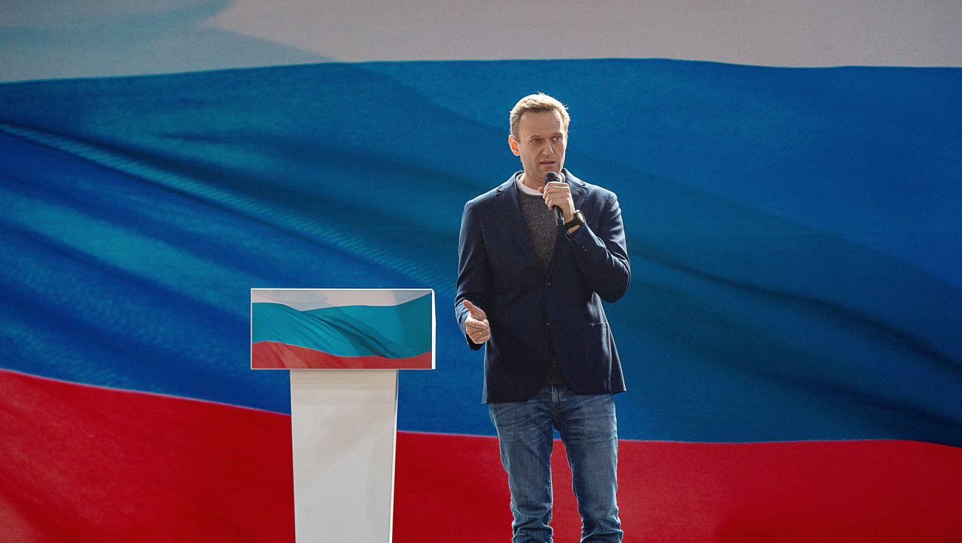 Aleksiej Nawalny na kongresie swojej nowej partii Rosja Przyszłości. Fot. Dmitry Serebryakov\TASS via Getty Images