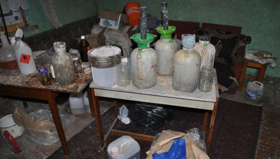 Domowe laboratorium amfetaminy (fot. CBŚP)