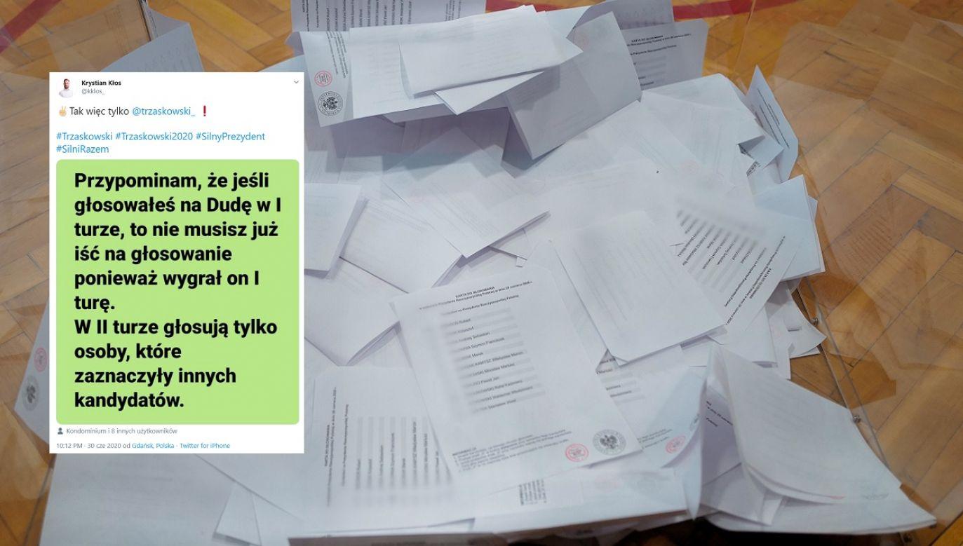 Fałszywą informację powielali między innymi działacze PO (fot. PAP/Andrzej Grygiel, TT/kklos_)