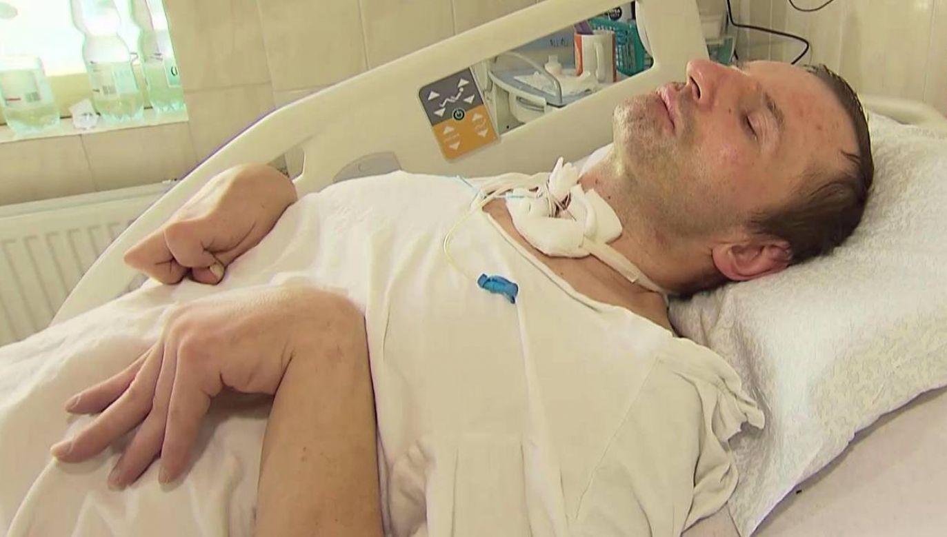 Łukasz Dragański miał zdaniem prokuratury targnąć się na swoje życie (fot. TVP1)
