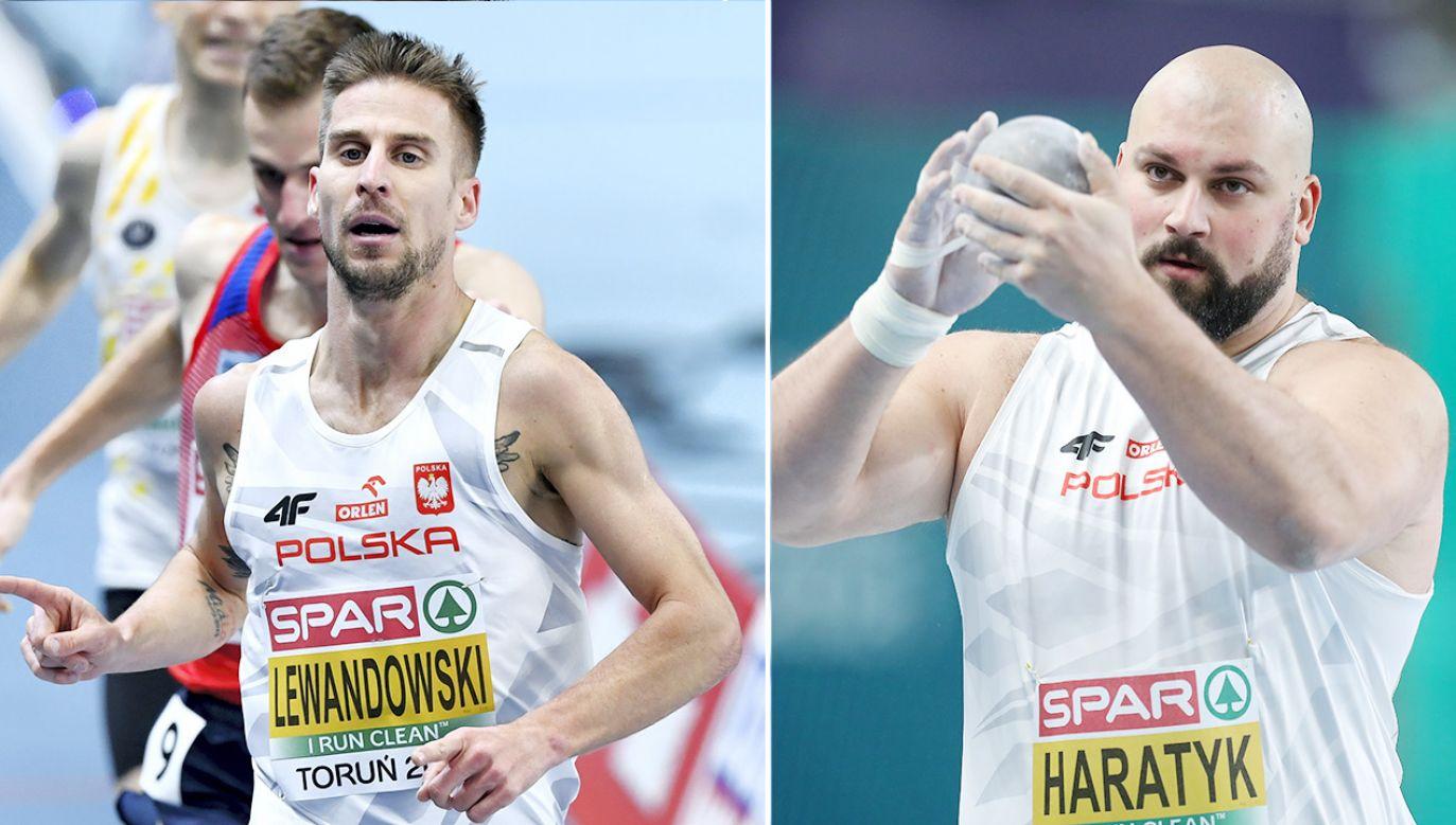 Marcin Lewandowski (z lewej) i Michał Haratyk bronią mistrzowskich tytułów w swoich dyscyplinach (fot.PAP/Adam Warżawa; Leszek Szymański)