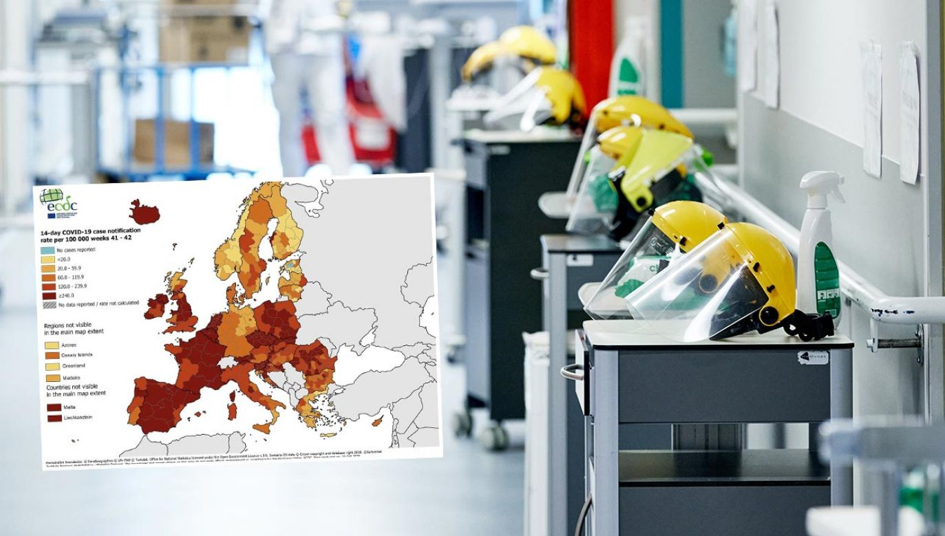 Raport Europejskiego Centrum ds. Zapobiegania i Kontroli Chorób o epidemii Covid-19 (fot. Vincent Duterne / Photonews via Getty Images)